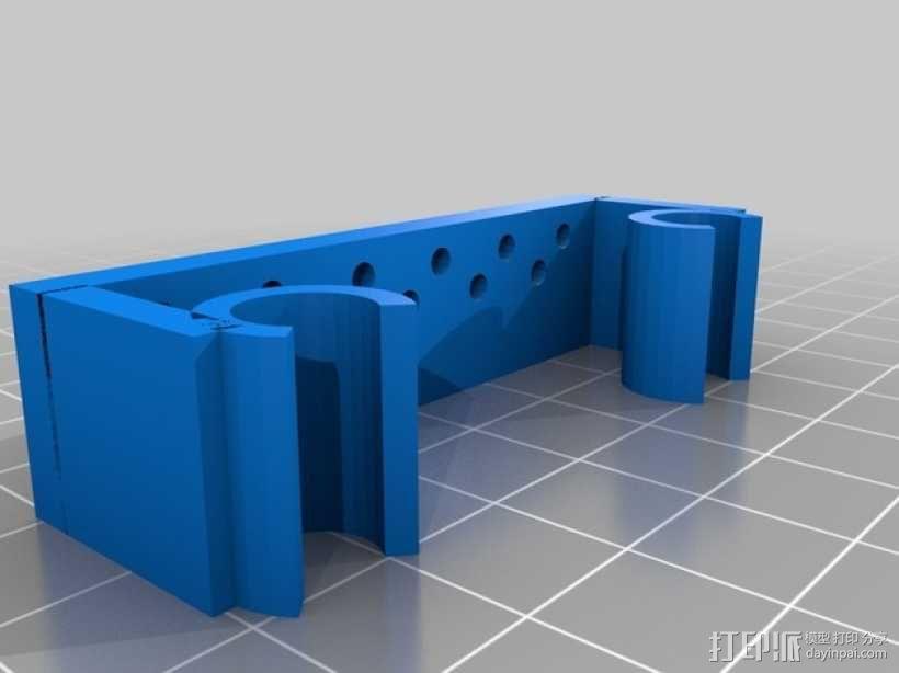 Prusa i3打印机限位开关固定器 3D模型  图1