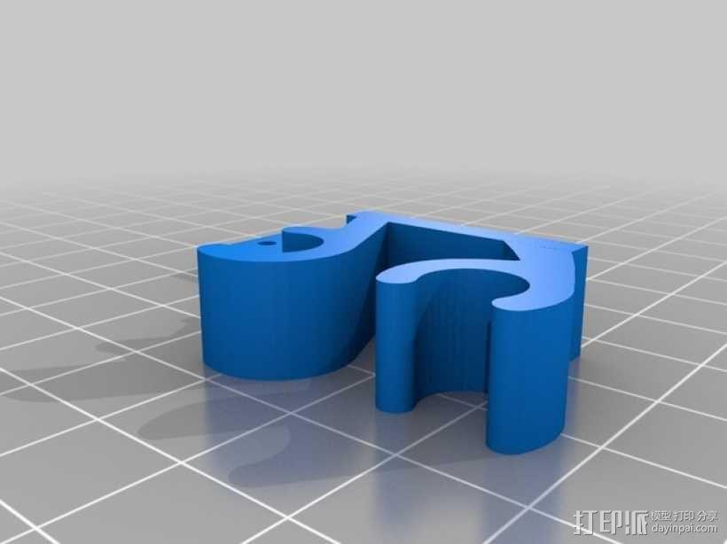Prusa i3打印机限位开关固定器 3D模型  图4