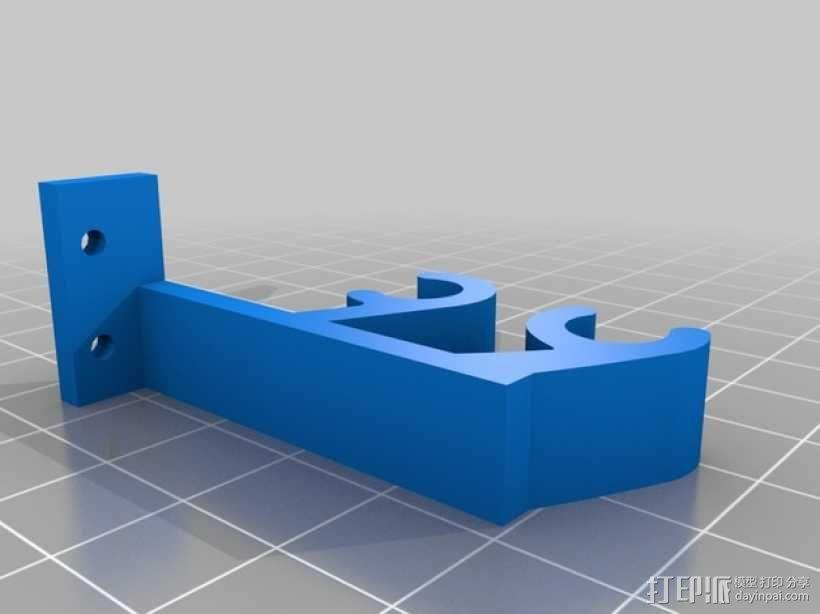 Prusa i3打印机限位开关固定器 3D模型  图5