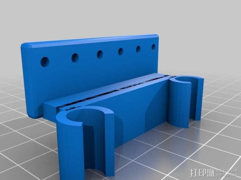 Prusa i3打印机限位开关固定器 3D模型  图6