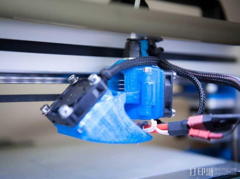 挤出机风扇 风扇导管 3D模型  图1