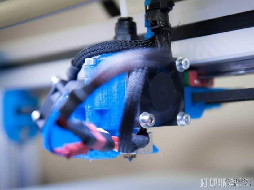 挤出机风扇 风扇导管 3D模型  图4