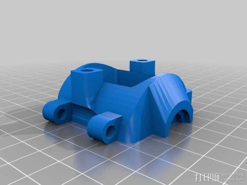 挤出机风扇 风扇导管 3D模型  图5