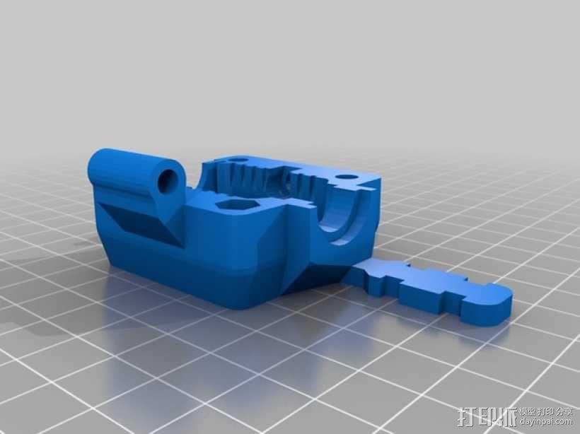 挤出机风扇 风扇导管 3D模型  图6
