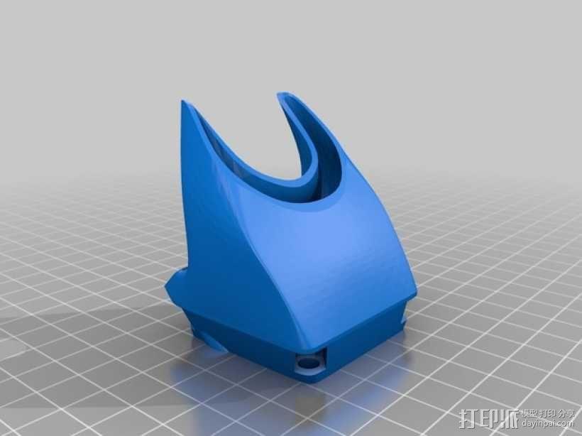 挤出机风扇 风扇导管 3D模型  图7