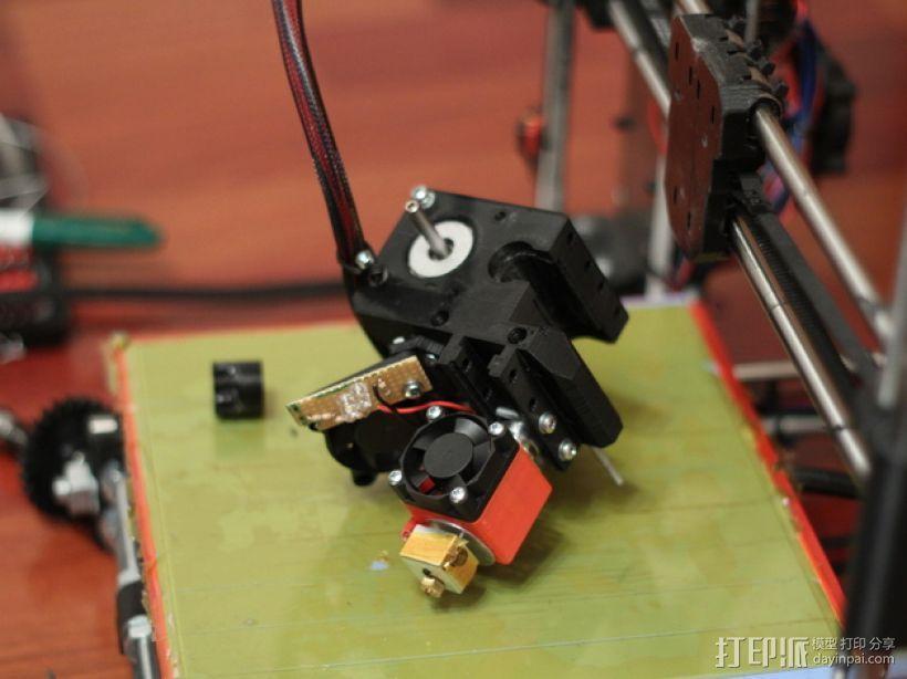 挤出机 喷嘴座 3D模型  图1