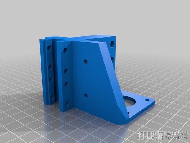 挤出机 喷嘴座 3D模型  图2