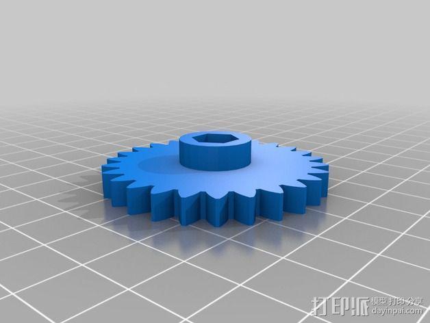 挤出机 喷嘴座 3D模型  图3