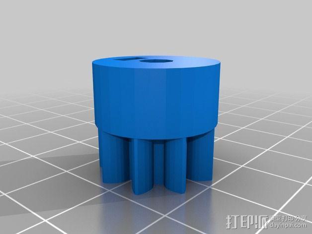 挤出机 喷嘴座 3D模型  图4