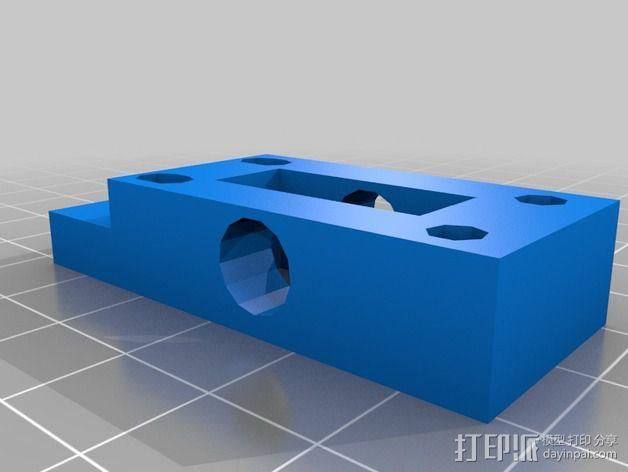 挤出机 喷嘴座 3D模型  图5