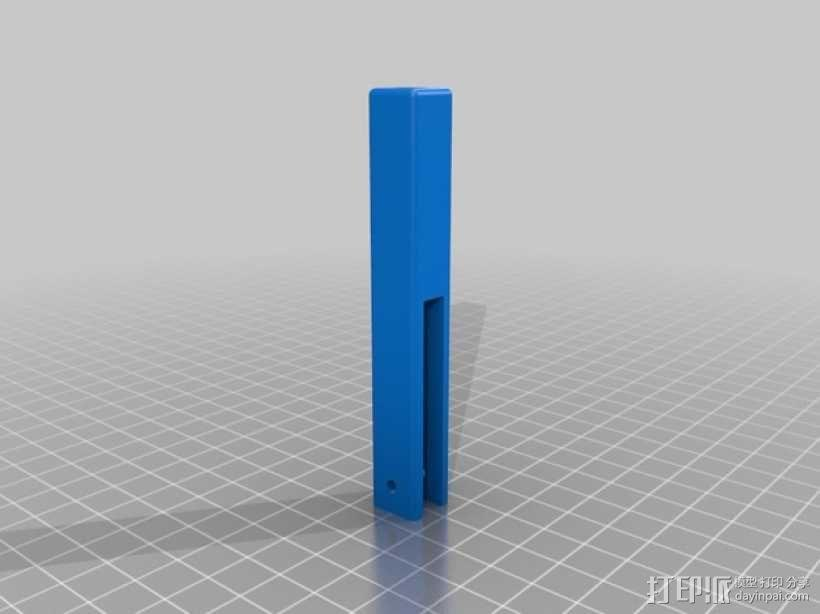 Prusa i3打印机LCD显示屏支架 线轴架 3D模型  图6