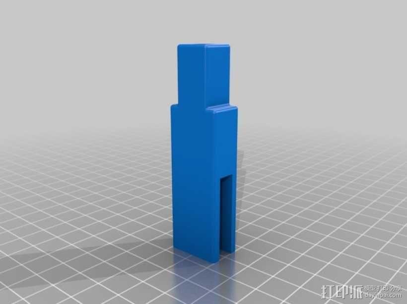Prusa i3打印机LCD显示屏支架 线轴架 3D模型  图7