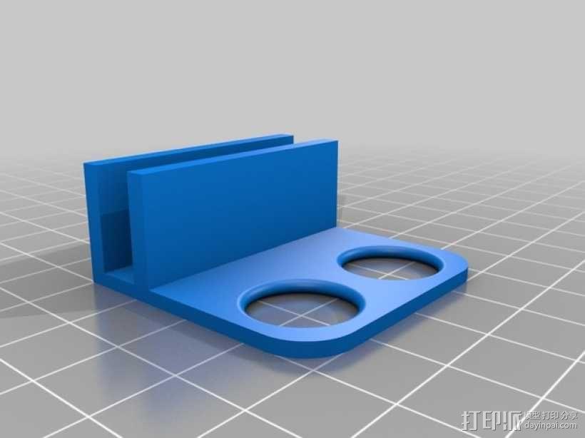 Prusa i3打印机LCD显示屏支架 线轴架 3D模型  图9