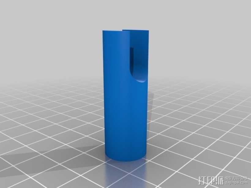 Prusa i3打印机LCD显示屏支架 线轴架 3D模型  图8