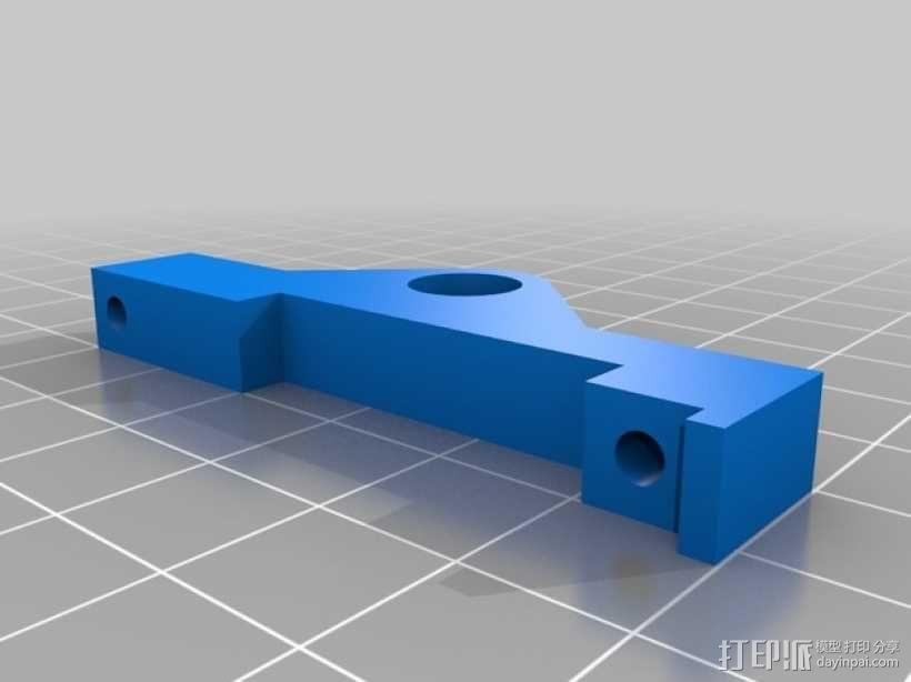 Prusa i3打印机LCD显示屏支架 线轴架 3D模型  图11
