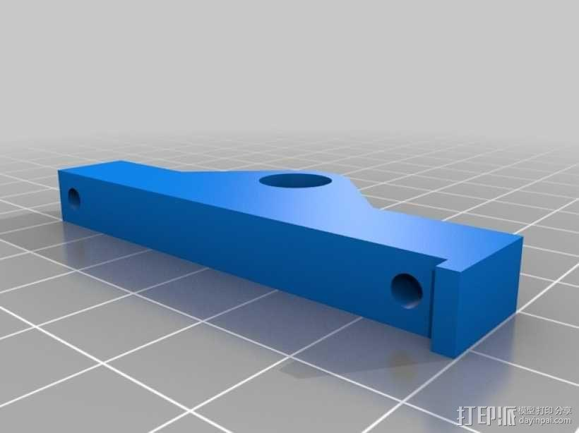 Prusa i3打印机LCD显示屏支架 线轴架 3D模型  图12