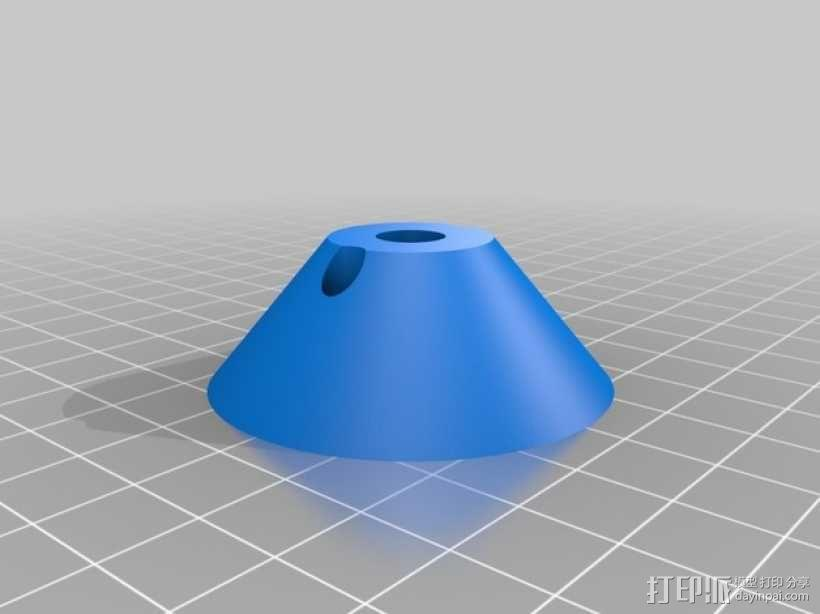 Prusa i3打印机LCD显示屏支架 线轴架 3D模型  图13