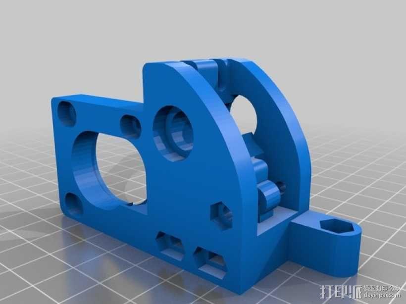 齿轮挤出机 3D模型  图2