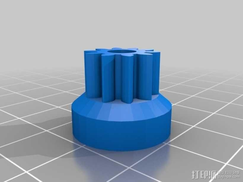 齿轮挤出机 3D模型  图4