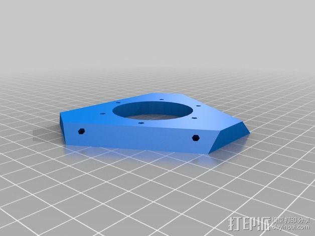 Rostocks打印机U形接头 3D模型  图4