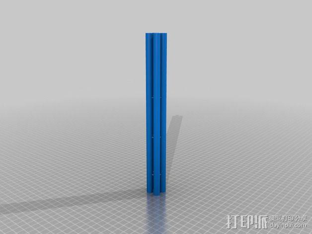 Rostocks打印机U形接头 3D模型  图6