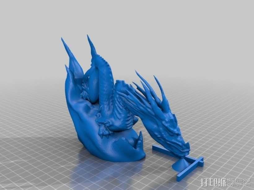 腾云驾雾的龙 3D模型  图1