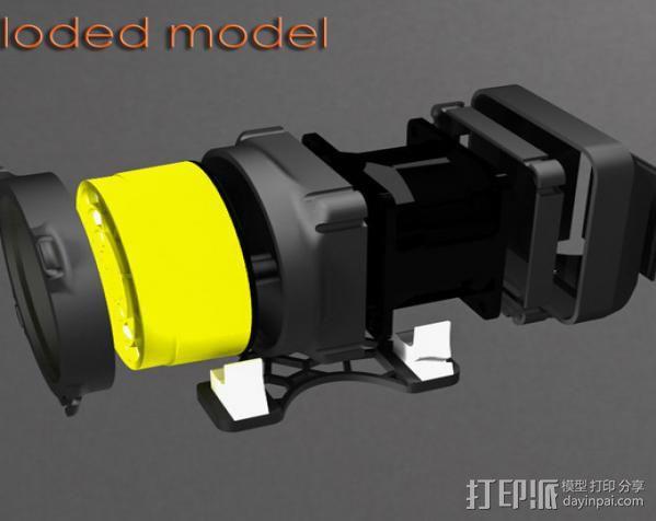 replicator 2/2X打印机排气式挤出机 3D模型  图3