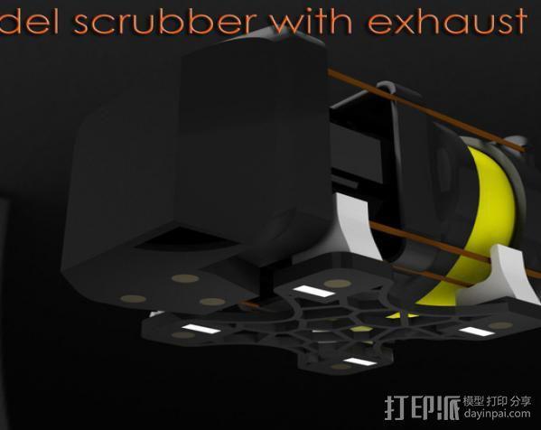 replicator 2/2X打印机排气式挤出机 3D模型  图5