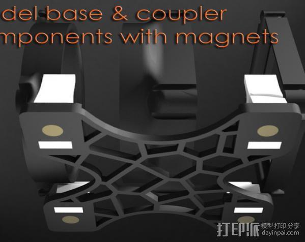 replicator 2/2X打印机排气式挤出机 3D模型  图4