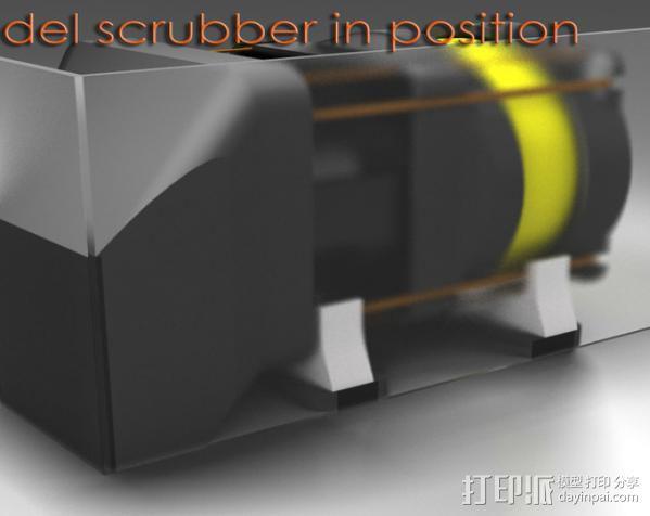 replicator 2/2X打印机排气式挤出机 3D模型  图2