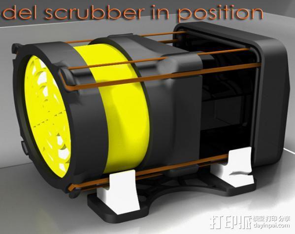 replicator 2/2X打印机排气式挤出机 3D模型  图1
