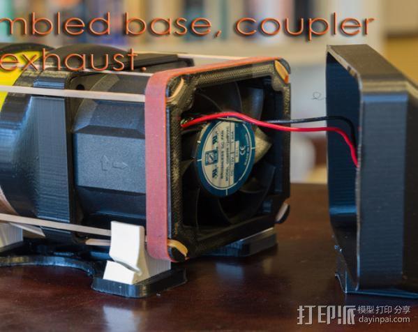replicator 2/2X打印机排气式挤出机 3D模型  图6