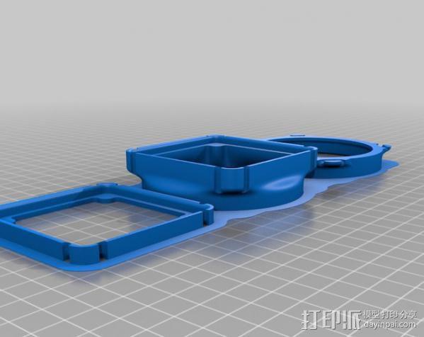 replicator 2/2X打印机排气式挤出机 3D模型  图10