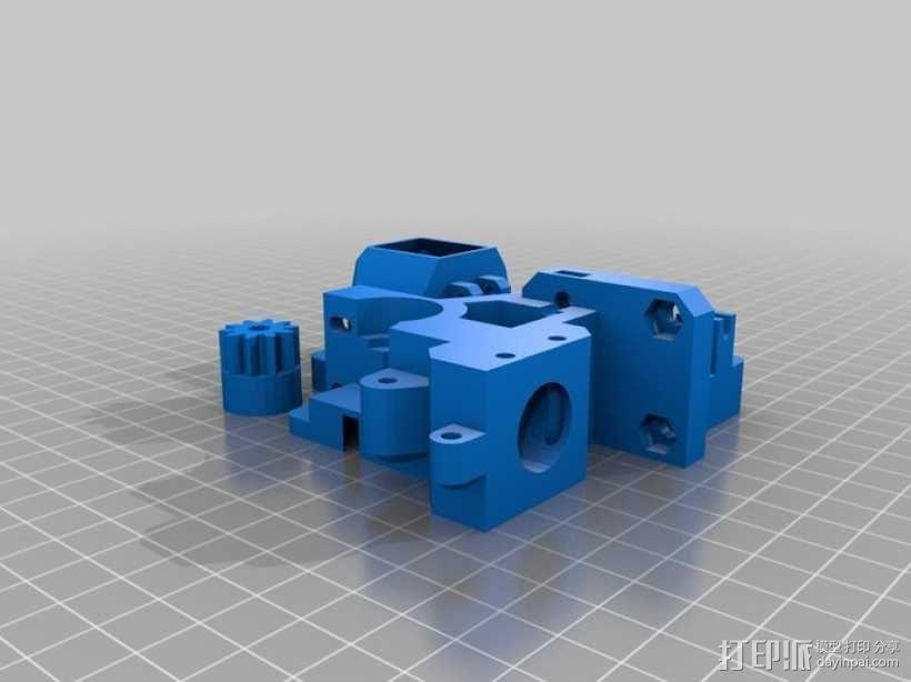 Prusa i3挤出机 3D模型  图1
