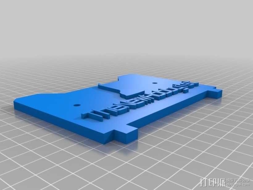 Replicator 打印机标签 3D模型  图2