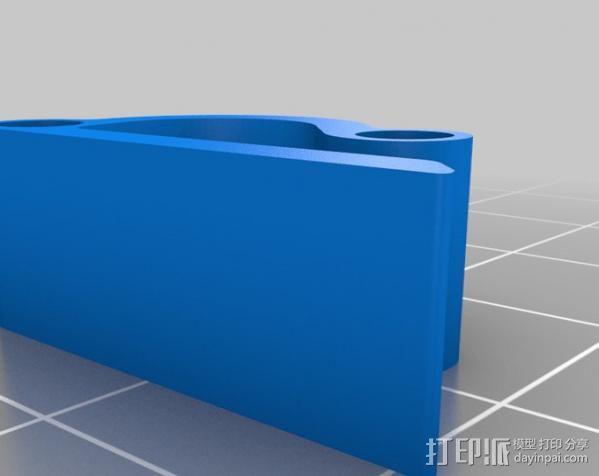 双孔线夹 导线器  3D模型  图3