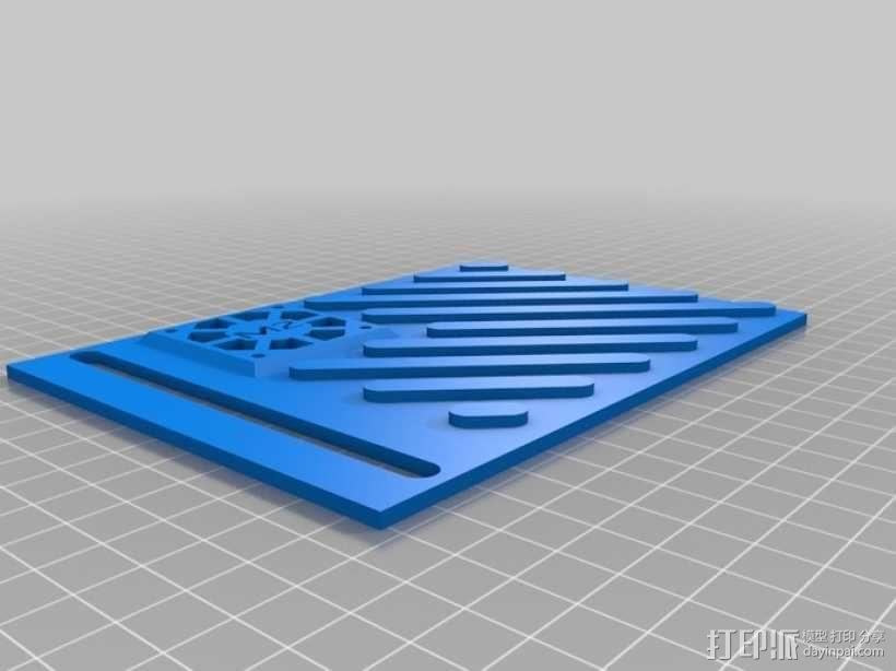 打印机LCD显示屏保护罩 3D模型  图4