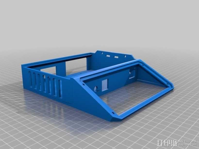 打印机LCD显示屏保护罩 3D模型  图3