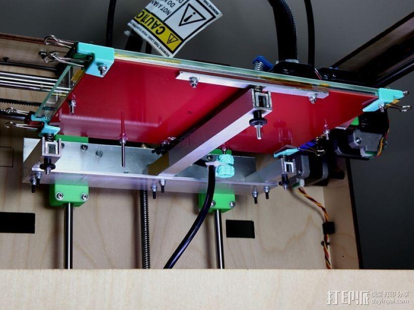 Makerbot Replicator打印机打印床支撑架 3D模型  图1
