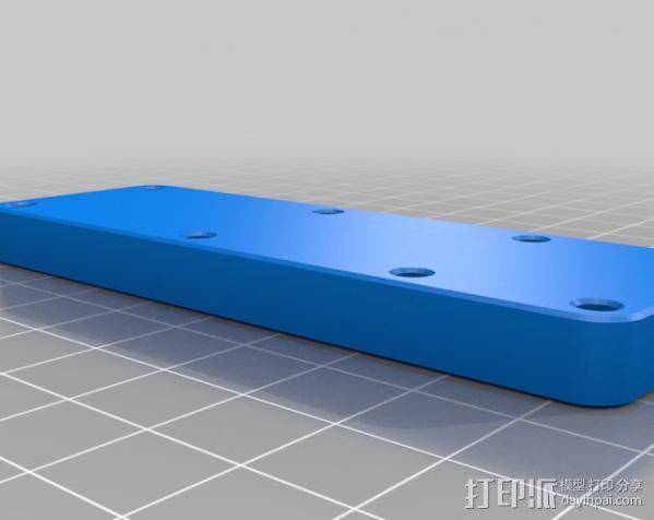 Makerbot Replicator打印机打印床支撑架 3D模型  图4
