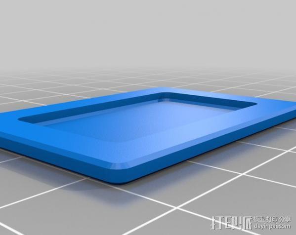 Makerbot Replicator打印机打印床支撑架 3D模型  图7