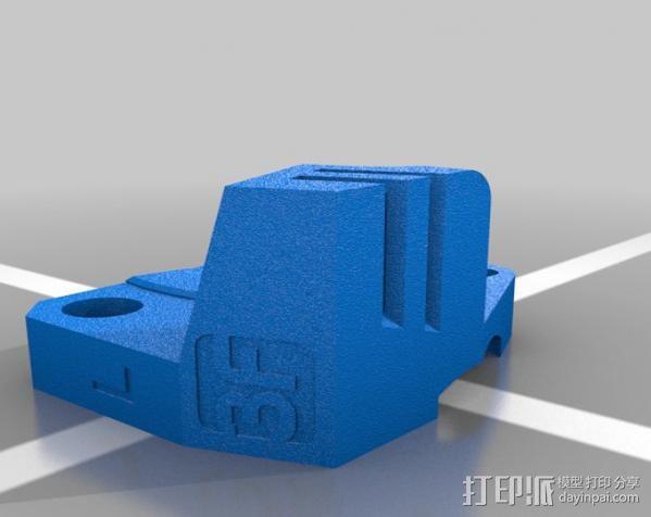 Replicator 2X挤出机 3D模型  图2