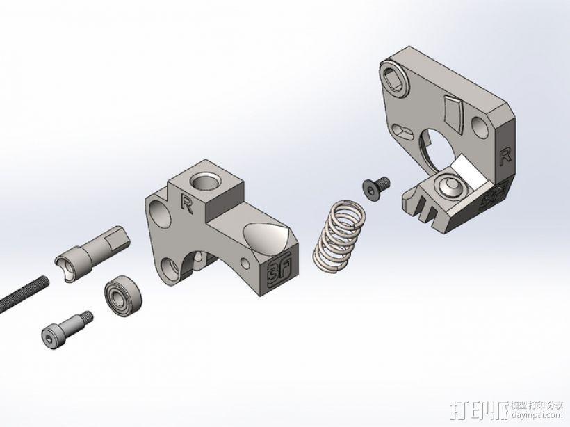 Replicator 2X挤出机 3D模型  图1