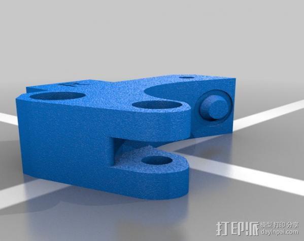 Replicator 2X挤出机 3D模型  图3