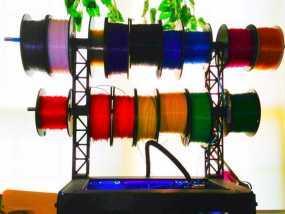 Replicator 2打印机顶部线轴架 3D模型