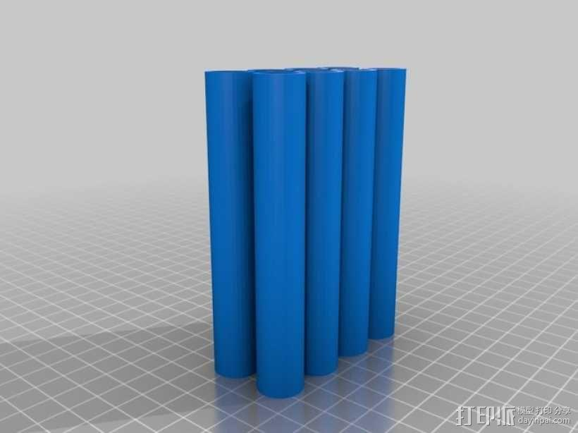 Replicator 2打印机顶部线轴架 3D模型  图4