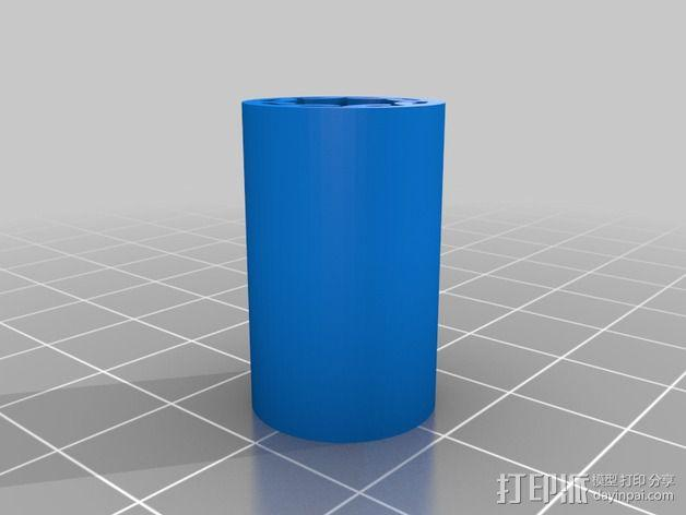 LM8UU线性轴承  3D模型  图3