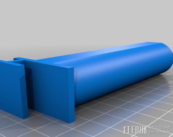 MakerBot replicator打印机线轴架 3D模型  图2
