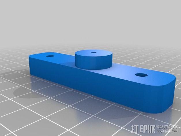 挤出机适配器 3D模型  图2