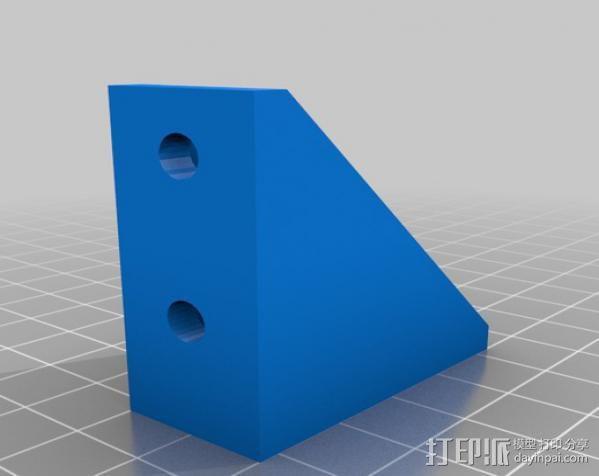 挤出机右边框架 3D模型  图1